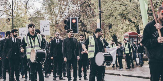 راهپیمایی نمادین شیعیان انگلیس در آستانه اربعین