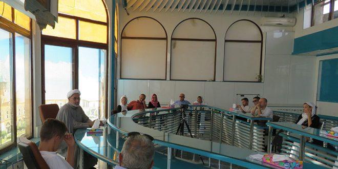 حضور توریست های ایتالیایی در مؤسسه بین المللی المرتضی (ع) با حضور استاد مصطفی میلانی